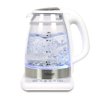 1.7 Qt. Raw Brewing Glass Electric Tea Kettle