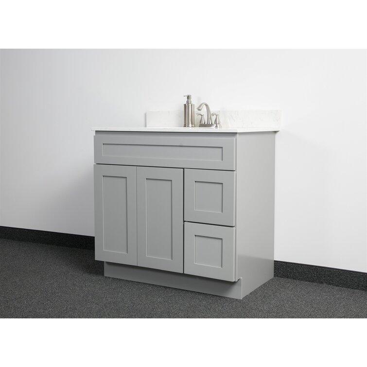 United Cabinetry 36 Bathroom Vanity Base Only Reviews Wayfair