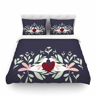 Love Nest Animals by Mayacoa Studio Featherweight Duvet Cover