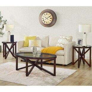 Wrought Studio Luebbert 3 Piece Coffee Table Set