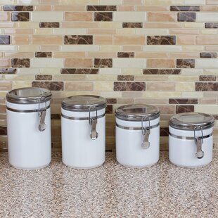 White Kitchen Canisters & Jars You\'ll Love in 2019 | Wayfair
