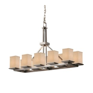 Latitude Run Red Hook 10 Light Square w/ Flat Rim Drum Chandelier