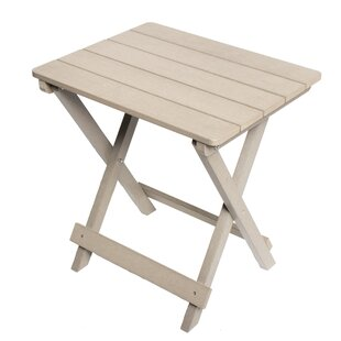 Tiffany Composite Wood Outdoor Foldable End Table