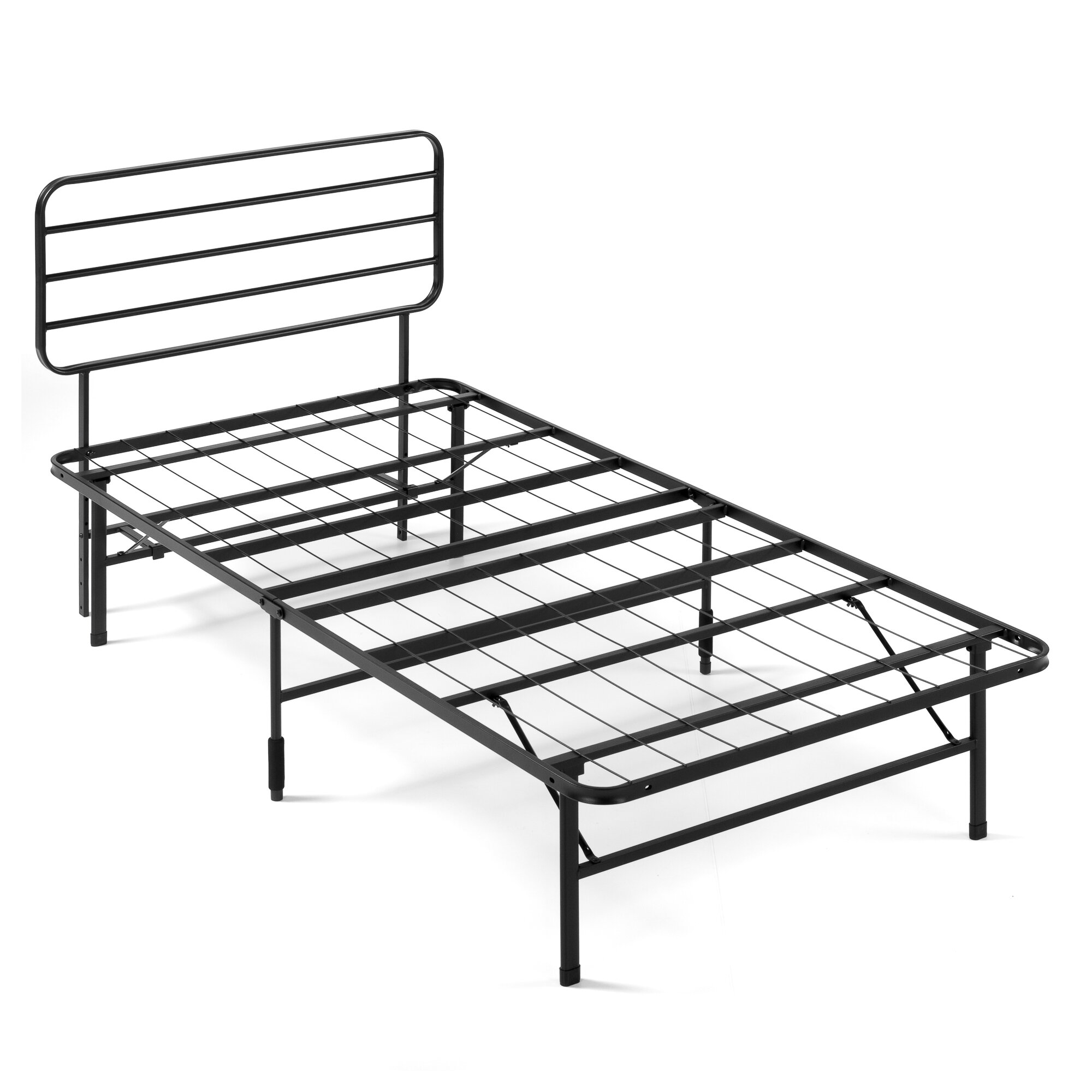 Alwyn Home Lorna 14 Smartbase Mattress Foundation With Headboard Metal Platform Bed Frame Reviews Wayfair