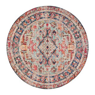 Hartville Distressed Handwoven Flatweave Red/Blue Area Rug by Bungalow Rose