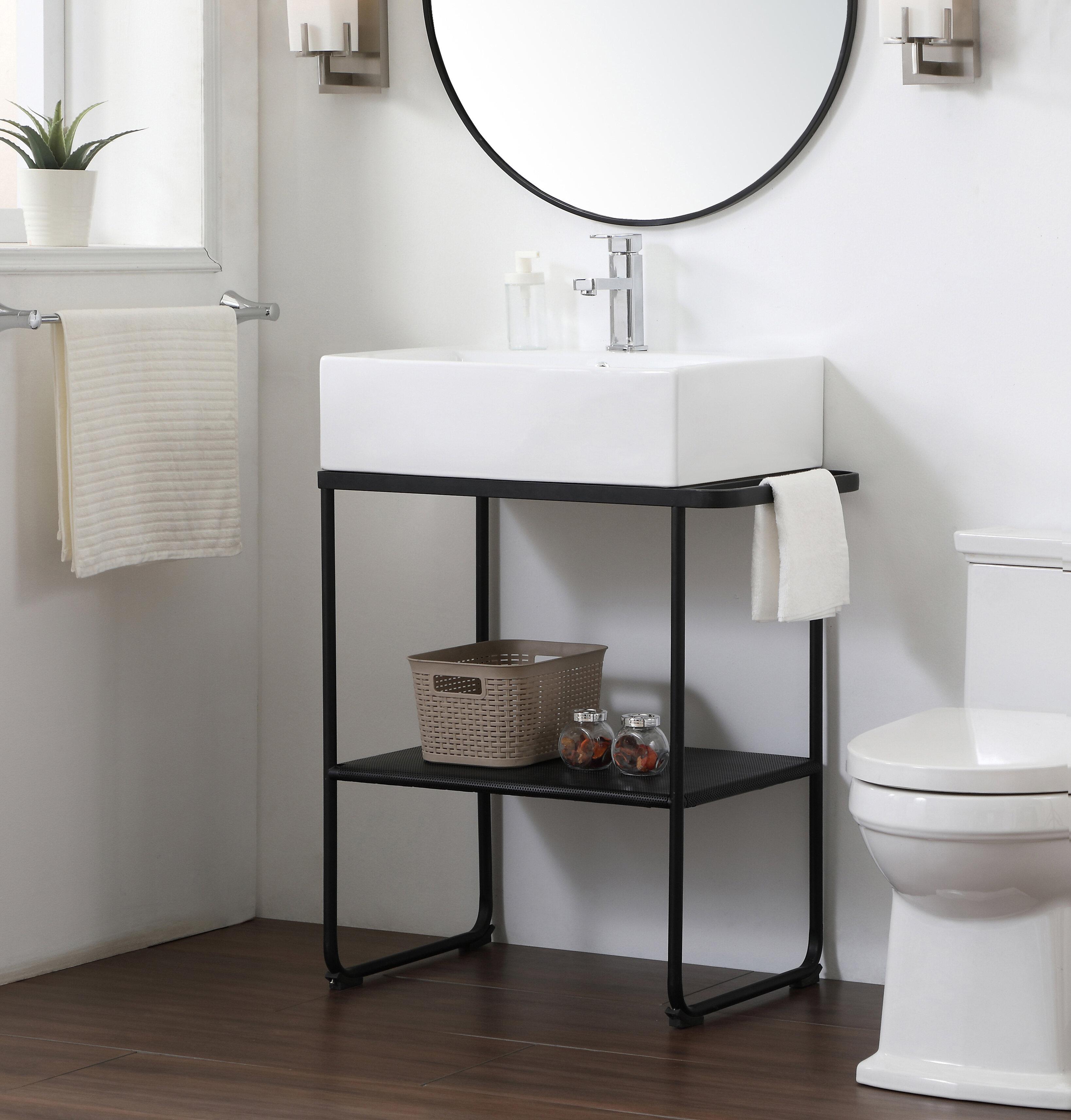 Wrought Studio Lunde 26 Single Bathroom Vanity Set Reviews Wayfair