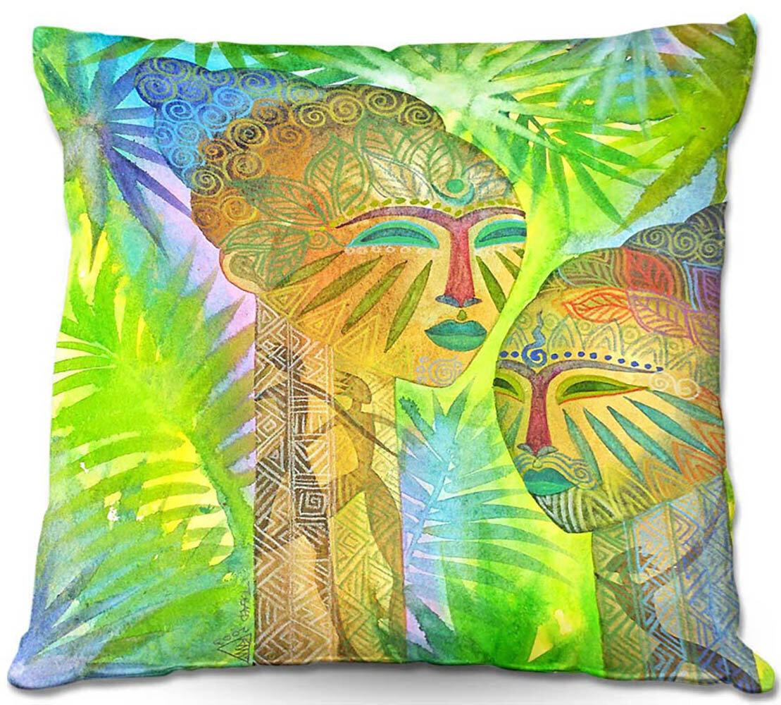 Trinx Couch African Forest Queens Throw Pillow Wayfair