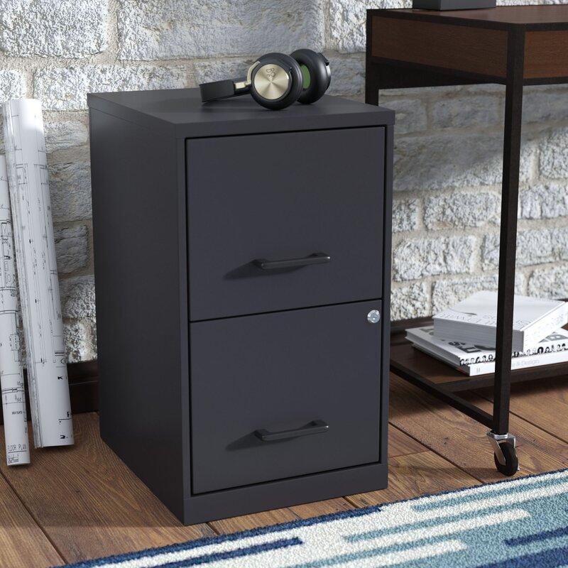 Wrought Studio Worton 2 Drawer Vertical Filing Cabinet Reviews Wayfair