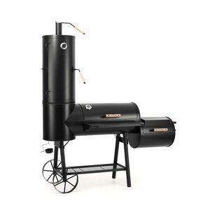 Monster Truck Offset Charcoal Smoker And Grill By Klarstein