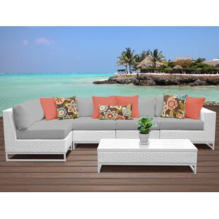 Miami 6 Piece Sectional Seating Group with Cushions ByTK Classics