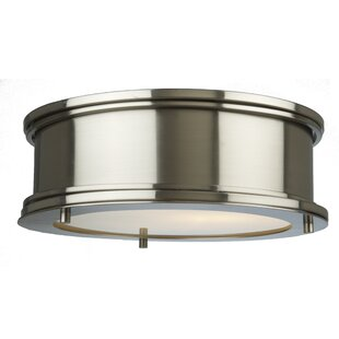 Rosecliff Heights Dunsmore 2-Light Flush Mount