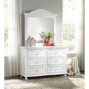 Narelle Princess 6 Drawer Double Dresser with Mirror by Harriet Bee
