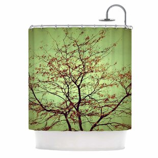 Modern Fall Tree Single Shower Curtain