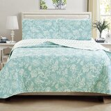 Paquin Floral Printed Reversible Quilt Set