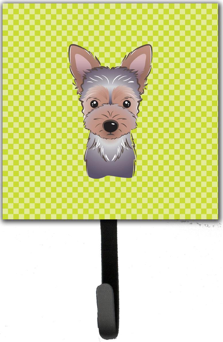 Caroline\'s Treasures Checkerboard Yorkie Puppy Leash Holder and Wall ...