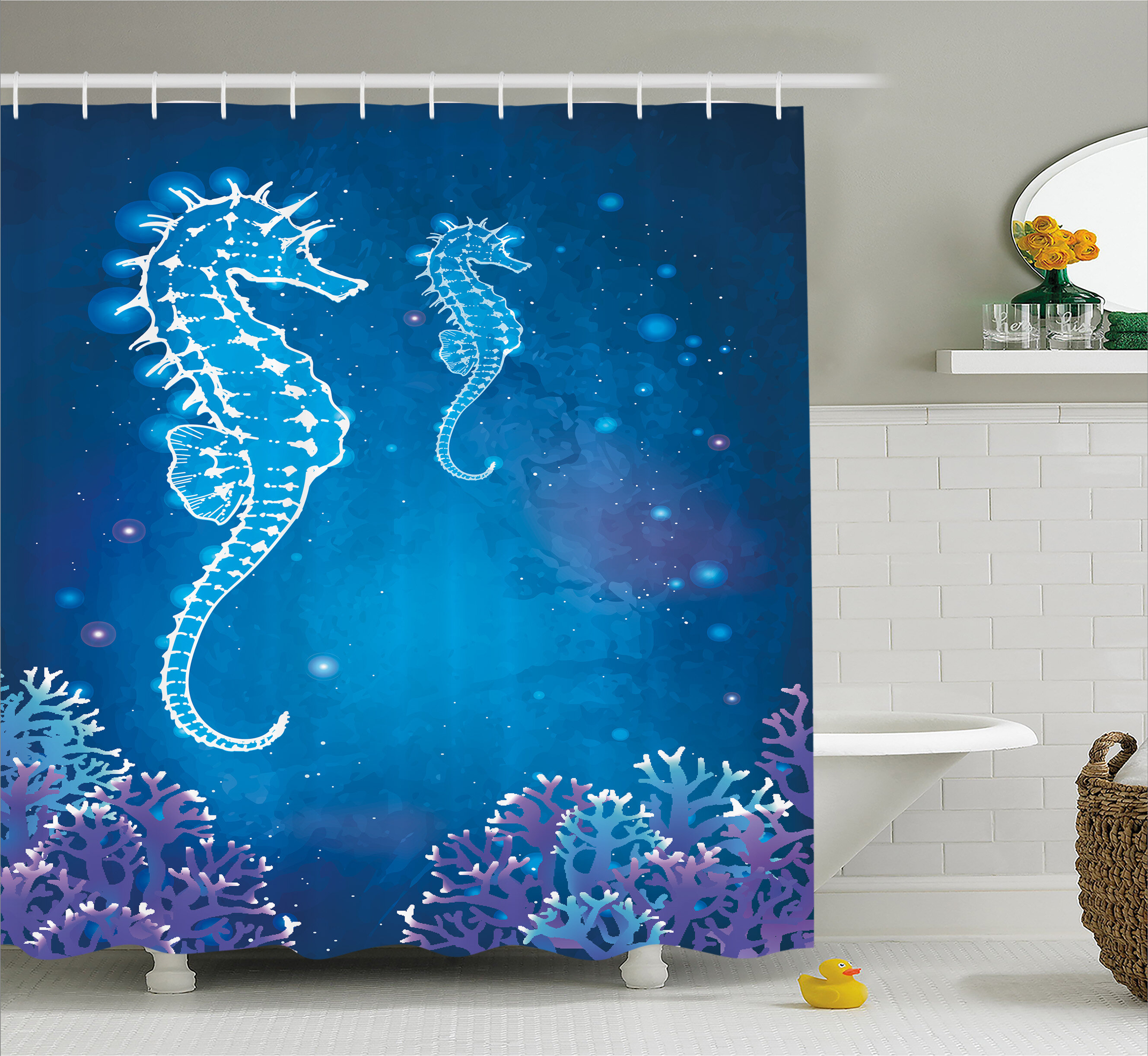 East Urban Home Ocean Pipefish Sea Creatures Shower Curtain Wayfair
