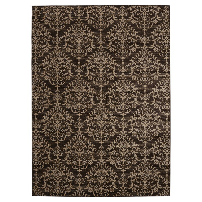Lakes Dark Brown Area Rug