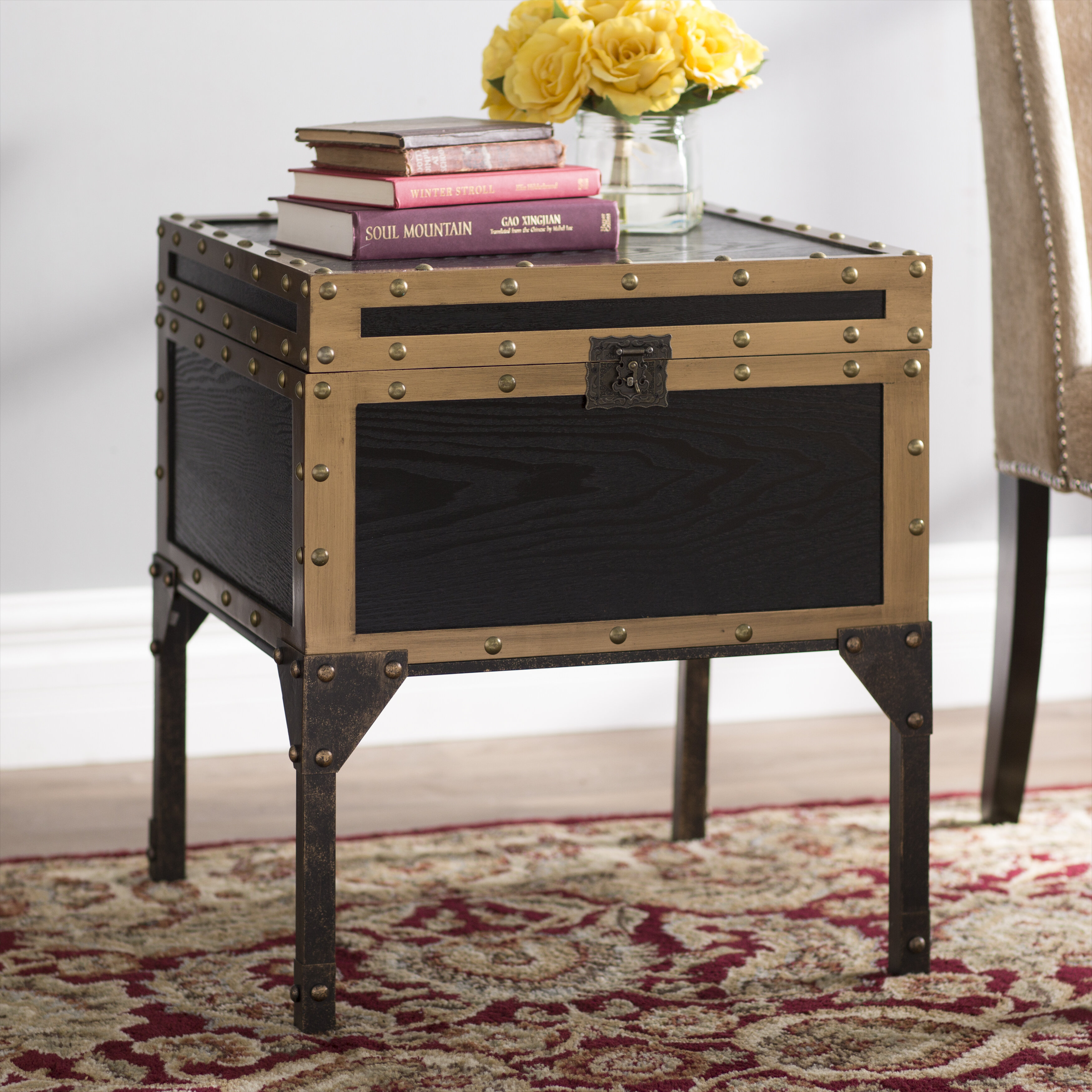 Three Posts Hirst End Table With Storage Reviews Wayfair