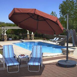 Freeport 11' Cantilever Sunbrella Umbrella by Island Umbrella