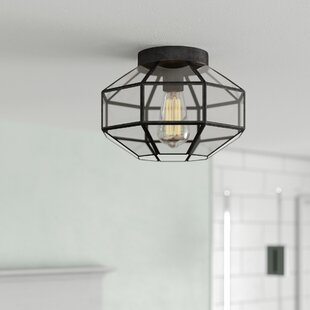 Ehrhart Vintage 1-Light Semi Flush Mount by Wrought Studio