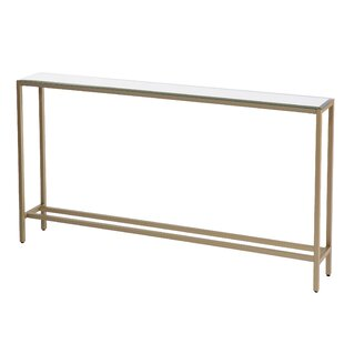 Romaine Console Table with Mirrored Top by Mercer41