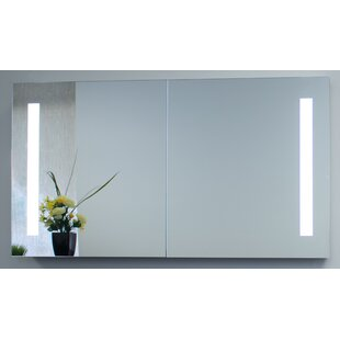 Compare Cedar Grove 40 x 26 Mirror Cabinet with LED Lighting By Wade Logan