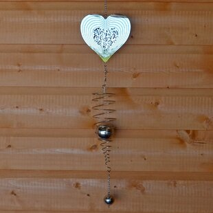 Shamberg Heart And Spiral Wind Chime By Sol 72 Outdoor