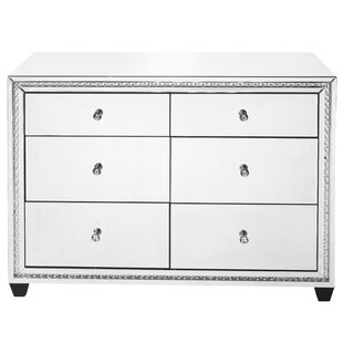 Rosdorf Park Laster Crystal 6 Drawer Accent Chest