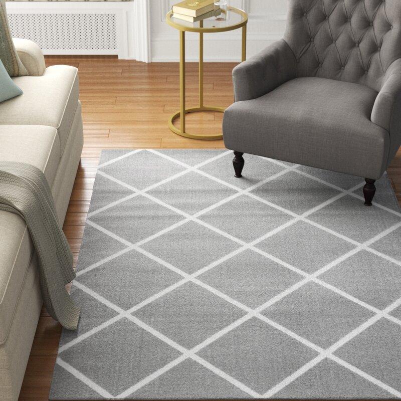 Charlton Home Speedwell Geometric Gray Area Rug Wayfair