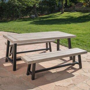 Stone Dining Set Wayfair - Stone picnic table set