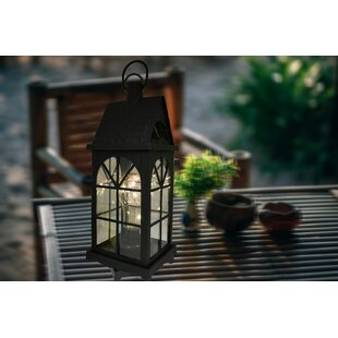 Maryam Battery-Operated 1-Light LED Outdoor Hanging Lantern