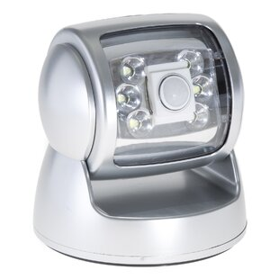 Everyday Home LED Battery Operated Outdoor Security Flood Light with Motion Sensor