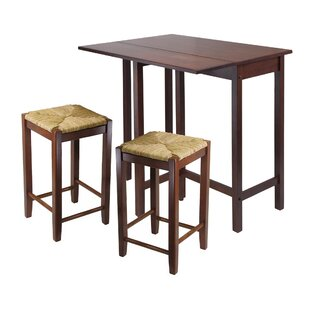 Red Barrel Studio Bettencourt 3 Piece Counter Height Dining Set