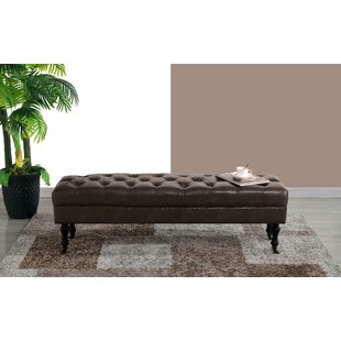 Schiavo Upholstered Bench by Charlton Home Great price