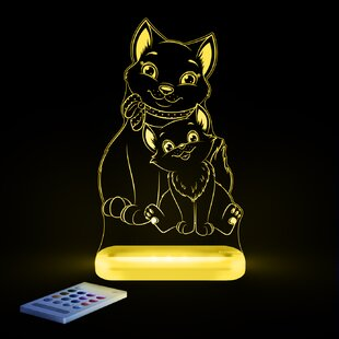 Lumenico Aloka Starlights LED Cat Night Light with Remote Control