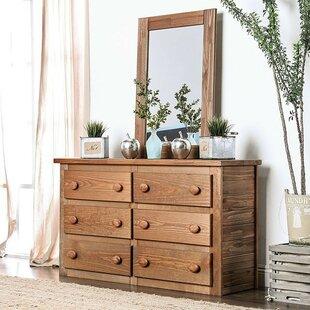 Salamone 6 Drawer Double Dresser by Harriet Bee