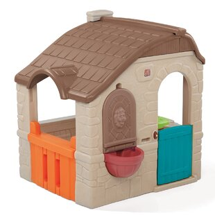 Affordable Naturally Playful Countryside Cottage 4.5' x 4.58' Playhouse ByStep2