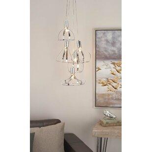 Cole & Grey Metal 5-Light Cluster Pendant
