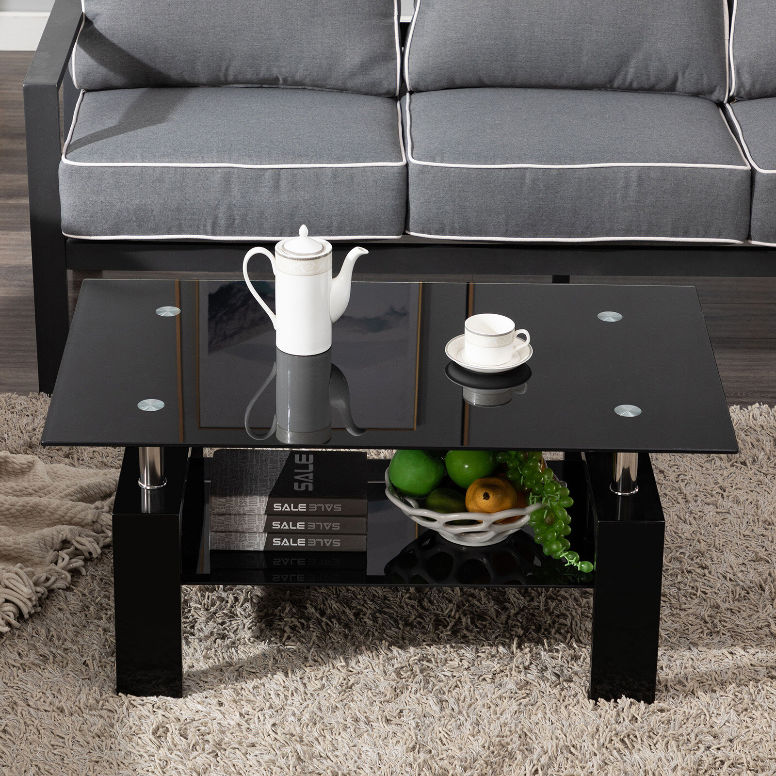 Orren Ellis Kutlay Coffee Table With Storage Reviews Wayfair