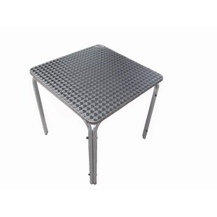 Weinert Aluminium And Stainless Steel Bistro Table By Sol 72 Outdoor