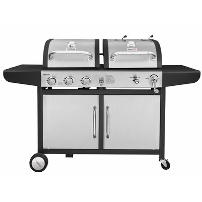 Royal Gourmet Corp Performance 3-Burner Liquid Propane Gas and Charcoal Grill Finish: Stainless Steel