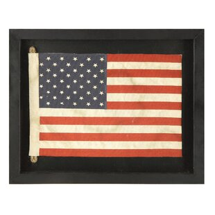 Small American Flag Framed Wall Art
