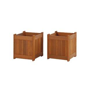 Sealrock Wood Planter Box (Set Of 2) By Freeport Park