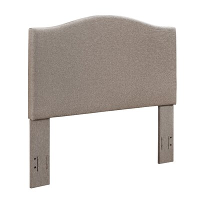 Benedict Camelback Upholstered Panel Headboard Size: Full/Queen, Upholstery: Oatmeal Linen by Alcott Hill