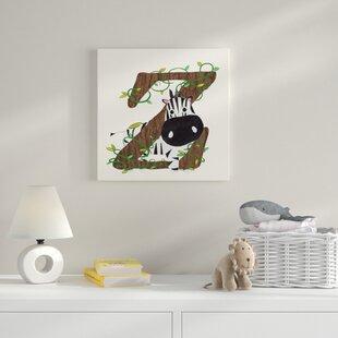 Z Canvas Art By HoneyBee Nursery