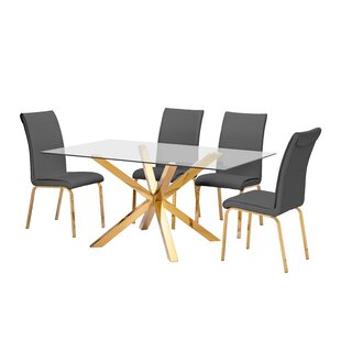 Wade 5 Piece Extendable Dining Set