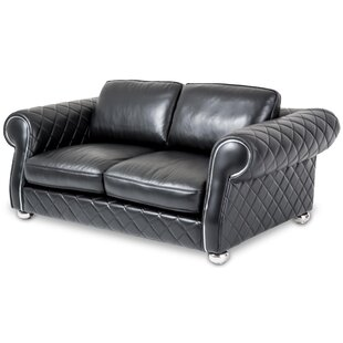 Mia Bella Lugano Leather Sofa by Michael Amini (AICO)