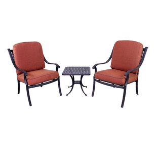 Sunderland 3 Piece Seating Group with Sunbrella Cushions