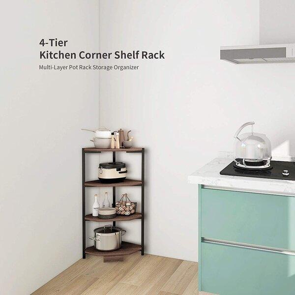 Multi Layer Corner Shelf Stand Stainless Steel Shelves For Kitchen 4 Tier Kitchen Pot Rack Corner Shelves Home Decor Accents Labestudios Cl