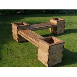 Americus Wooden Planter Bench By Alpen Home